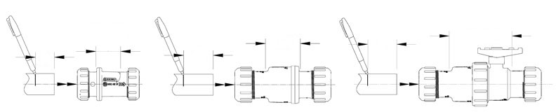 Compression Connection Line Drawing