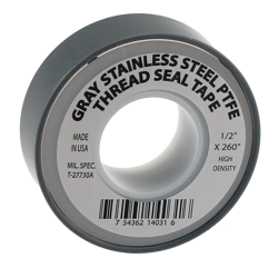 Gray Stainless Steel PTFE Thread Seal Tape